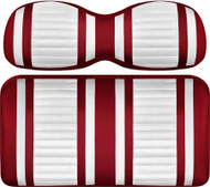 Doubletake Deluxe Extreme  Front Seat Cushion Set Ruby-White