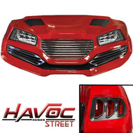 Yamaha G29/Drive HAVOC Street Body Kit in Red (Fits 2007-2016)