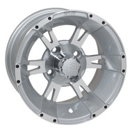 """GTW Yellow Jacket 12"""" Machined & Silver Wheel (3:4 Offset)"""