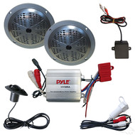 "Complete MP3 w/ 100 Watt Amp and Pyle 5.25"" Black Speakers"