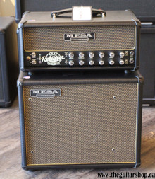 MESA BOOGIE TGS CUSTOM DESIGN RECTOVERB 25 HEAD WITH THIELE 1X12 CAB BLACK WITH GOLD GRILLE AND GOLD PIPING