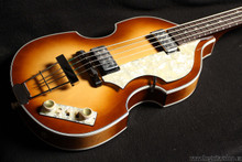 HOFNER VIOLIN BASS 1962 REISSUE WITH BIRDS EYE MAPLE BACK
