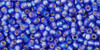 Toho Seed Beads 11/0 Rounds Silver-Lined Frosted Rainbow Sapphire