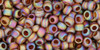 Toho Seed Beads 8/0 Rounds Transparent Rainbow Frosted Smoky Topaz