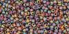 Toho Seed Bead 15/0 Round Transparent Frosted Rainbow Smoky Topaz