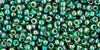 Toho Seed Bead Round 11/0 #305 'Transparent Rainbow Green Emerald' 20gm