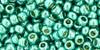 Toho Bead 8/0 Round #127 Permanent Finish Galvanized Green Teal 50g