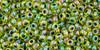 Toho Bulk Beads 11/0 #196 In-Rainbow Jonquil Forest Green 250g