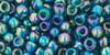 Toho Bulk Beads 6/0 Rounds #23 Transparent Rainbow Teal 250g