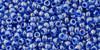 Toho Beads 11/0 Round Light Sapphire Opaque Dark Blue Lined 8g