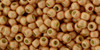 Toho Beads 11/0 Round Permanent Finish Matte Galvanized Rose Gold 8g