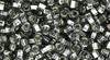 Toho Beads 8/0 Round #186 Square-Hole Silver Lined Black Diamond 20g