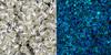 Toho Bulk Bead 11/0 Round #415 Silver Lined Crystal Glow Blue 250 gram