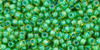 Toho Bulk Beads 11/0 Round #417 Lime Green Opaque Green Lined 250 g