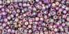 Toho Seed Beads 11/0 Rounds Transparent-Rainbow Medium Amethyst
