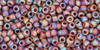 Toho Seed Beads 11/0 Rounds Transparent-Rainbow-Frosted Smoky Topaz