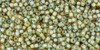 Toho Seed Bead 15/0 Round In-Rainbow Light Topaz/Sea Foam Lined