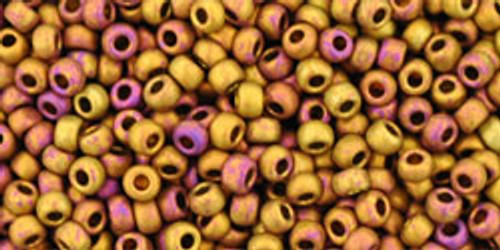 TOHO Beads 11/0 Rounds #45 Higher Metallic Frosted Copper Twilight 50g