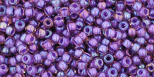 Toho Bead 11/0 Round #103 Rainbow Rosaline/Opaque Purple Lined 50g