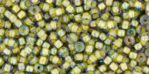 Toho Bead 11/0 Round #164 In-Black Diamond/Opaque Yellow Lined 50gm
