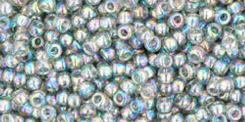 Toho Seed Bead 11/0 Round #195 Transparent Rainbow Black Diamond 50g