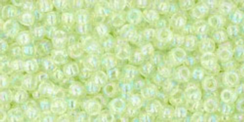 Toho Seed Beads 11/0 Rounds Dyed Transparent Rainbow Lemon Mist
