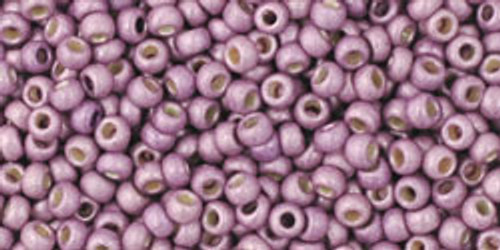 Toho Bead 11/0 Round #228 Permanent Finish Frosted Galvanized Lilac 50g