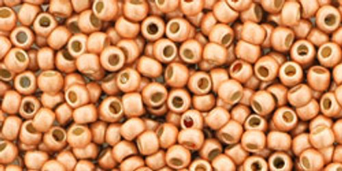 TOHO Seed Beads 11/0 Rounds #235 Permanent Finish Matte Galvanized Rose Gold 20 Grams