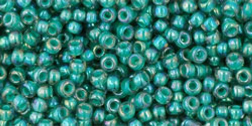Toho Seed Bead 11/0 Round #268 In-Rainbow Light Sapphire/Opaque Teal Lined 50gm