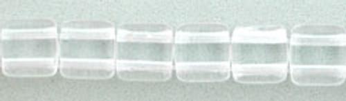 CzechMates 2-Hole 6mm Beads Crystal 50pcs