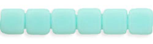 CzechMates 2-Hole 6mm Beads Opaque- Pale Turquoise 50pcs