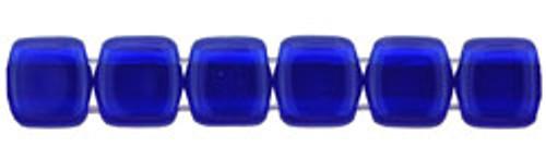 CzechMates 2-Hole 6mm Beads Cobalt 50pcs
