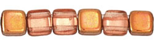 CzechMates 2-Hole 6mm Beads Apollo (Gold) 50pcs