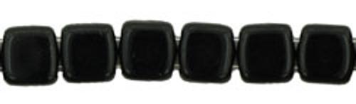 CzechMates 2-Hole 6mm Beads Jet 25pcs