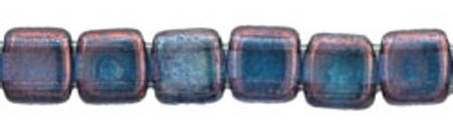 CzechMates 2-Hole 6mm Beads Luster Transparent Amethyst 25pcs