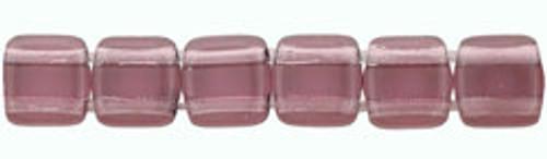 CzechMates 2-Hole 6mm Beads Medium Amethyst 50pcs