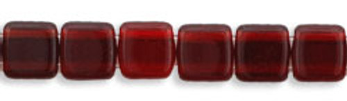 CzechMates 2-Hole 6mm Beads Ruby 25pcs