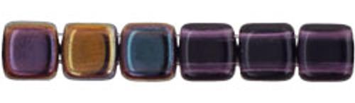 CzechMates 2-Hole 6mm Beads Twilight-Tanzanite 25pcs