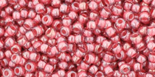 Toho Bead 11/0 Round #329 Transparent Lustered Rose/Mauve Lined 50g
