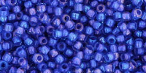 Toho Bead 11/0 Round #337 In-Rainbow Light Sapphire/Opaque Purple Lined 50 gm