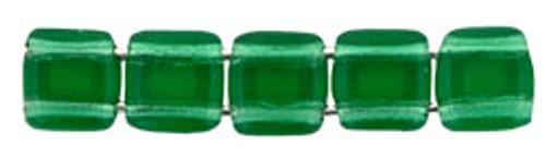 CzechMates 2-Hole 6mm Emerald 25pc.