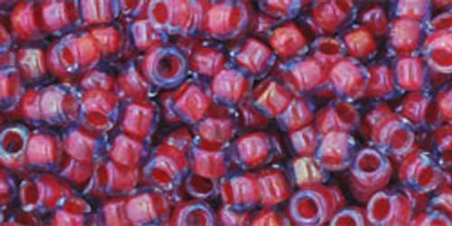 Toho Seed Beads 8/0 Rounds Inside-Color Light Sapphire/Hyacinth Lined