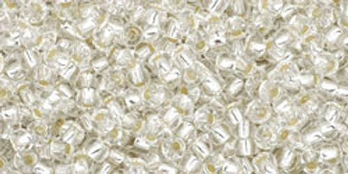 Toho Bulk Beads 11/0 Rounds #109 Silver Lined Crystal 250g Factory Pak