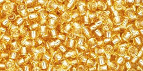 Toho Bulk Beads 11/0 Rounds #120 Silver Lined Light Topaz 250g Factory pak
