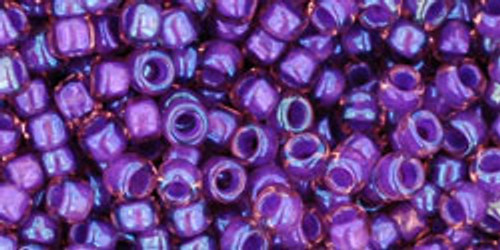Toho Seed Beads 8/0 Rounds In-Rainbow Rosaline/Opaque Purple Lined