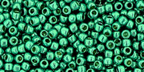 Toho Seed Bead 11/0 Round #360 Permanent Finish Galvanized Teal 50g