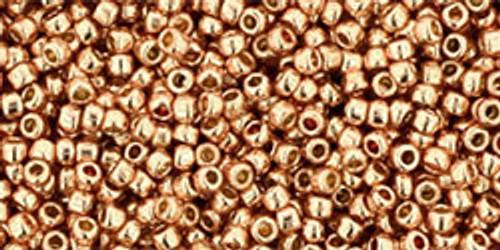 Toho Beads 15/0 Rounds Permanent Finish Galvanized Rose Gold