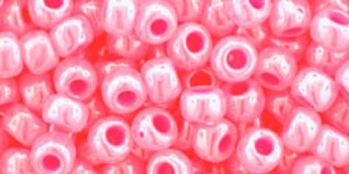 Toho Bulk Beads 6/0 Round #12 Ceylon Hot Pink 250 gram Factory Pak