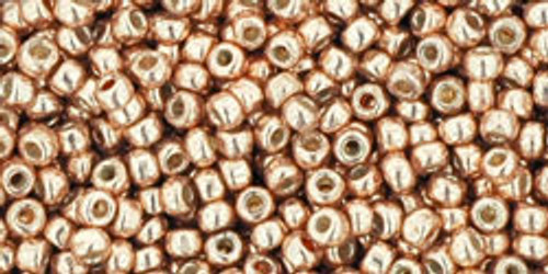 Toho Bulk Seed Beads 11/0 Rounds #365 Permanent Finish Galvanized Rose Gold 250g Factory Pak