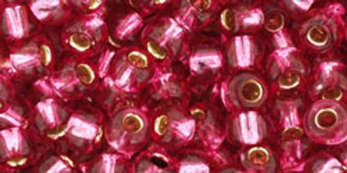 Toho Bulk Beads 6/0 Rounds #13 Silver Lined Mauve 250g Factory Pak